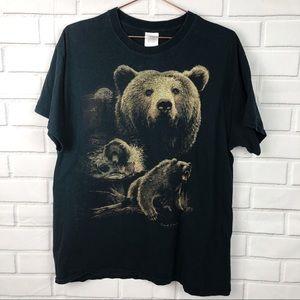 Gildan | Bear animal graphic tee free spirit